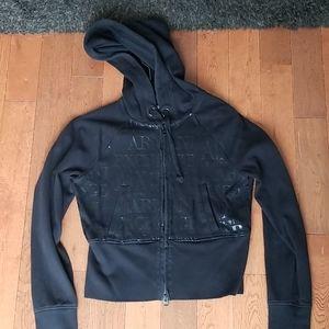 ARMANI  cropped hoodie
